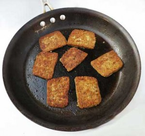 Habbersett-Scrapple-Cooking