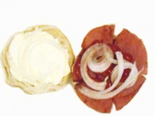 Taylor pork roll and cream cheese
